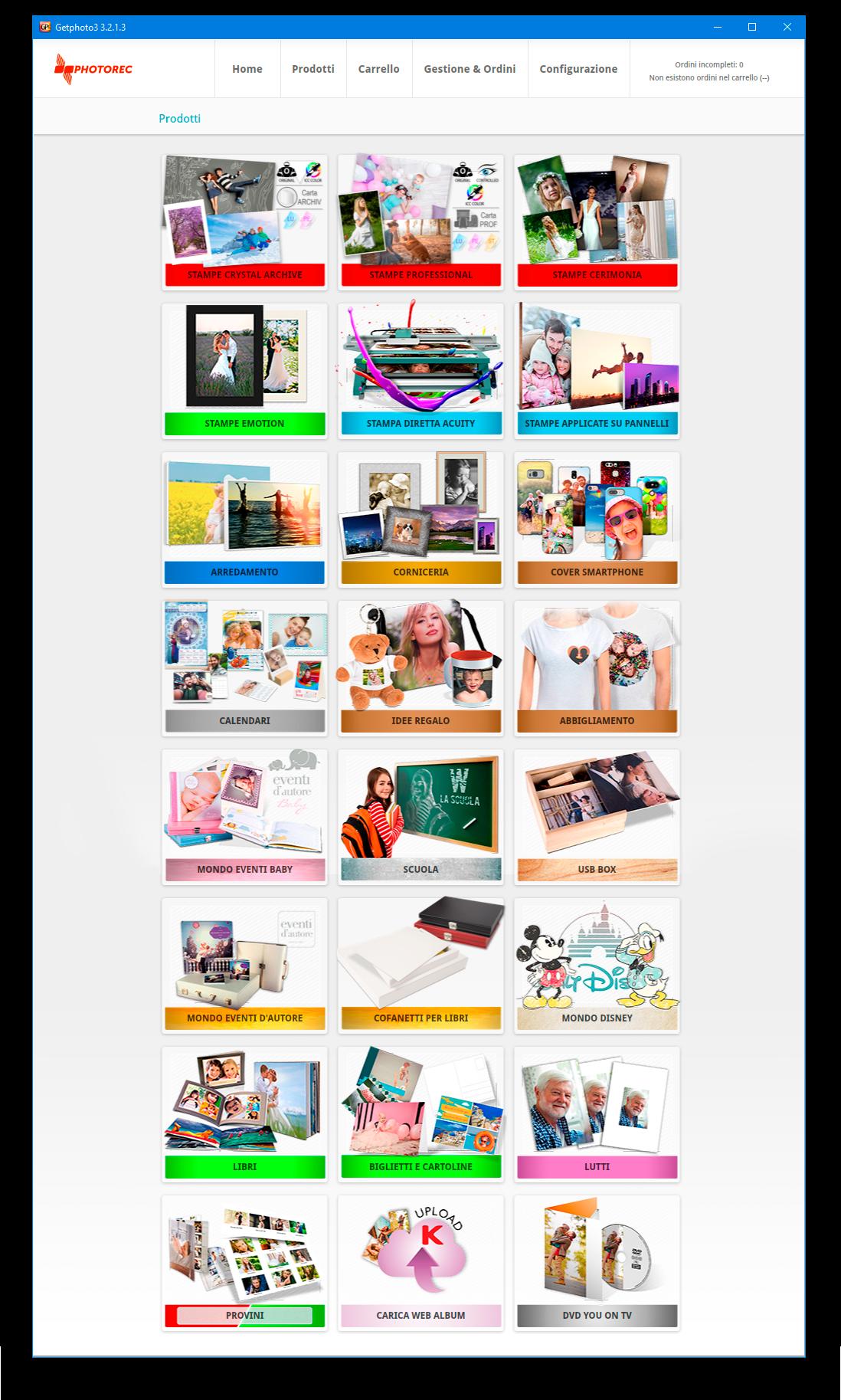 schermata prodotti getphoto3